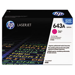 Q5953AG (HP 643A) Government Smart Toner Cartridge, 10,000 Page-Yield, Magenta