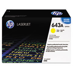 Q5952AG (HP 643A) Government Smart Toner Cartridge, 10,000 Page-Yield, Yellow
