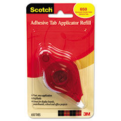 Scotch Adhesive Tab Refill, 1/2 x 1/4, 650 tabs