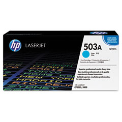 Q7581AG (HP 503A) Government Smart Toner Cartridge, 6000 Page-Yield, Cyan