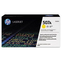 HP 507A (CE402A) Yellow Original LaserJet Toner Cartridge for LaserJet Ent 500 color M551 / M575, Ent Flow MFP M575c, Pro 500 color MFP M570