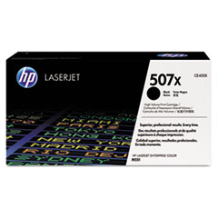 HP 507X (CE400X) High Yield Black Original LaserJet Toner Cartridge for LaserJet Ent 500 color M551 / M575, Ent Flow MFP M575c, Pro 500 color MFP M570