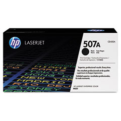 HP 507A (CE400A) Black Original LaserJet Toner Cartridge for LaserJet Ent 500 color M551 / M575, Ent Flow MFP M575c, Pro 500 color MFP M570