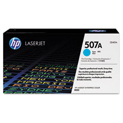 CE401A (HP 507A) Toner Cartridge, 6,000 Page Yield, Cyan