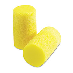 3M E-A-R Classic Plus Earplugs, PVC Foam, Yellow, 200 Pairs/Box