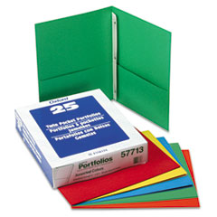 Oxford Twin-Pocket Folders with 3 Fasteners, Letter, 1/2