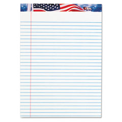 TOPS American Pride Writing Pad, Lgl Rule, 8 1/2 x 11 3/4, White, 50 Sheets, Dozen