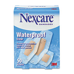 Waterproof Bandages, Assorted Sizes, 50 per Box
