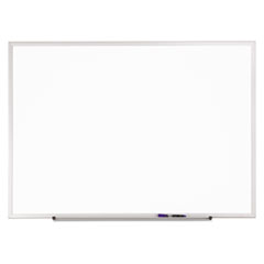 Standard Dry-Erase Board, Melamine, 36 x 24, White, Aluminum Frame