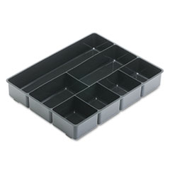 Rubbermaid Extra Deep Desk Drawer Director Tray, Plastic, Black