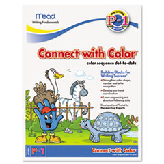 Mead Writing Fundamentals Tablet, Connect with Color, 10 1/2 x 8, 22 Sheets per Pad