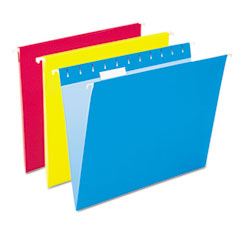 Pendaflex Essentials Colored Hanging Folders, 1/5 Tab, Letter, Assorted Colors, 25/Box