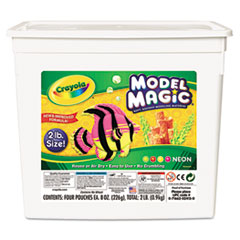 Crayola Model Magic Modeling Compound, 8 oz each/Neon, 2 lbs