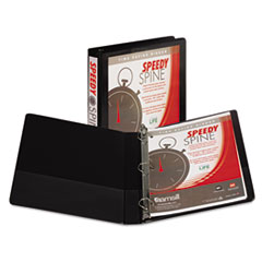 Samsill Speedy Spine Heavy-Duty D-Ring View Binder, 11 x 8 1/2, 1