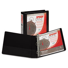 Samsill Speedy Spine Angle-D Ring View Binder, 11 x 8-1/2, 1-1/2