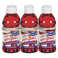 Ocean Spray 100% Juice, Cranberry Grape, 10oz Bottle, 6/Pack