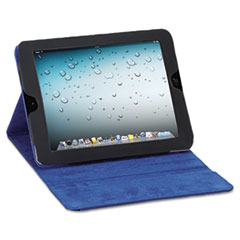 SOLO Tablet Case, For iPad 2 and 3, Black Vinyl, Blue Microsuede Lining, Snap Closure
