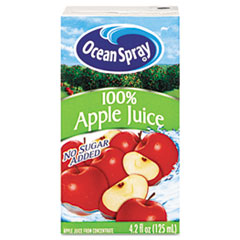Ocean Spray Aseptic Juice Boxes, 100% Apple, 4.2oz, 40/Carton