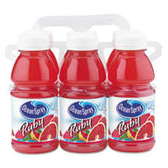 Ocean Spray Red Ruby Grapefruit Juice, 10 oz. Bottle, 6 per Pack