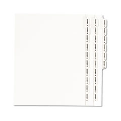 Avery-Style Legal Side Tab Divider, Title: Exhibit A-Z, Letter, White