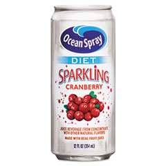 Ocean Spray Diet Sparkling Cranberry Juice, 12oz Can, 12/Carton
