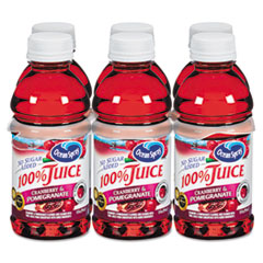 Ocean Spray 100% Juice, Cranberry Pomegranate, 10oz Bottle, 6/Pack