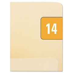 Smead Year 2014 End Tab Folder Labels, 1/2 x 1, Orange/White, 250 Labels/Pack