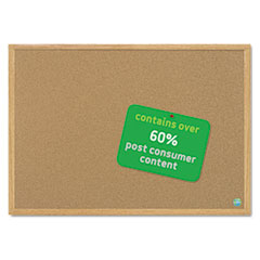 MasterVision Earth Cork Board, 24 x 36, Wood Frame