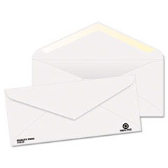 Quality Park Business Envelope, Contemporary, #10, Diagonal, V-Flap, Recycled, 500/Box