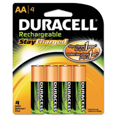 Duracell DX1500B4N Coppertop NiMH Pre-Charged Rechargeable Battery, AA, 4/Pack DURDX1500B4N DUR DX1500B4N