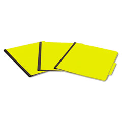 ACCO PRESSTEX ColorLife Pressboard, 15 Point, 8 1/2 x 11, Six-Section, Yellow