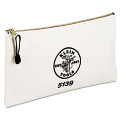"Klein Tools® BAG UTILITY W-ZIPPER Utility Canvas Zipper Bag, 12 1-2""w X 7""h"