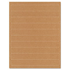 Guided Brown Kraft Printer Labels, 1 x 8, Permanent Adhesive, 250/Pack