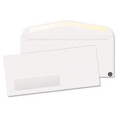 Quality Park Window Envelope, Contemporary, #10, White, Recycled, 500/Box