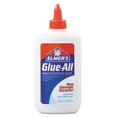 Elmer's Glue-All White Glue, Repositionable, 7.625 oz