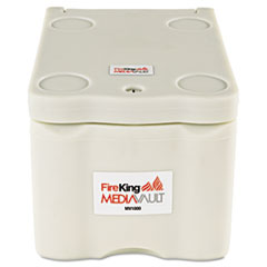 FireKing MediaVault, 11-5/8w x 17-1/2d x 10-1/2h, UL Listed 125� for Fire, White