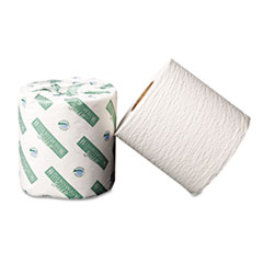 Boardwalk Green Bathroom Tissue, 2-Ply, White, 500 Sheets/Roll, 96 Rolls/Carton