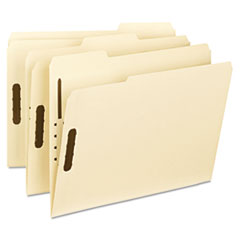 Smead WaterShed/CutLess Manila Fastener Folder, 1/3 Cut Top Tab, 50/BX