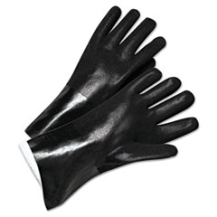 "Anchor Brand® GLOVES 2434 14"" PVC BK Pvc-Coated Jersey-Lined Gloves, 14 In. Long, Black, Men's"
