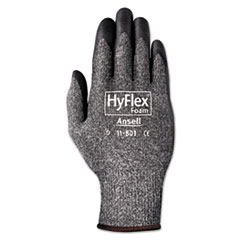 AnsellPro GLOVES HYFLX FOAM XL DGY Hyflex Foam Gloves, Dark Gray-black, Size 10, 12 Pairs