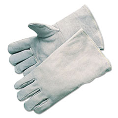 Anchor Brand® GLOVES E7270 WELDER GRAY Economy Welding Gloves, Cowhide, 13 1-2 In. Gauntlet Cuff, Large