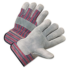Anchor Brand® GLOVES 3260 LTHR PALM 2.5 2000 Series Leather Palm Gloves, Gray-red, Large, 12 Pairs