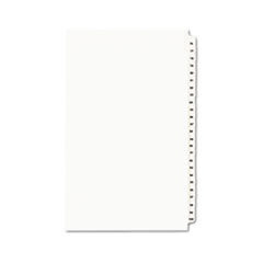 Avery-Style Legal Side Tab Divider, Title: 76-100, 14 x 8 1/2, White, 1 Set
