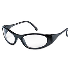 Frostbite2 Safety Glasses, Frost Black Frame, Squared Clear Lens