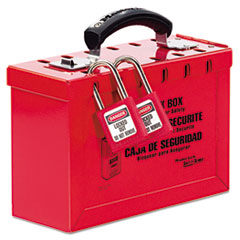 Master Lock Latch Tight Portable Lock Box, Red