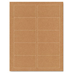 Guided Brown Kraft Printer Labels, 2 x 3-1/2, Permanent Adhesive, 250/Pack