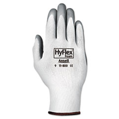 AnsellPro GLOVES HYFLX FOAM MD Hyflex Foam Gloves, White-gray, Size 8, 12 Pairs