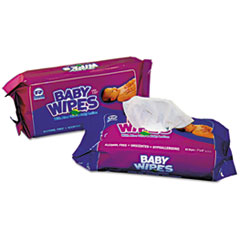 AmerCareRoyal® REFILL ALOE BABY UNSCNT Baby Wipes Refill Pack, White, 80-pack, 12 Packs-carton
