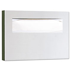 Bobrick Stainless Steel Toilet Seat Cover Dispenser, 15 3/4 x 2 x 11, Satin Finish
