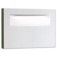 Bobrick Stainless Steel Toilet Seat Cover Dispenser, 15 3/4 x 2 x 11, Satin Finish